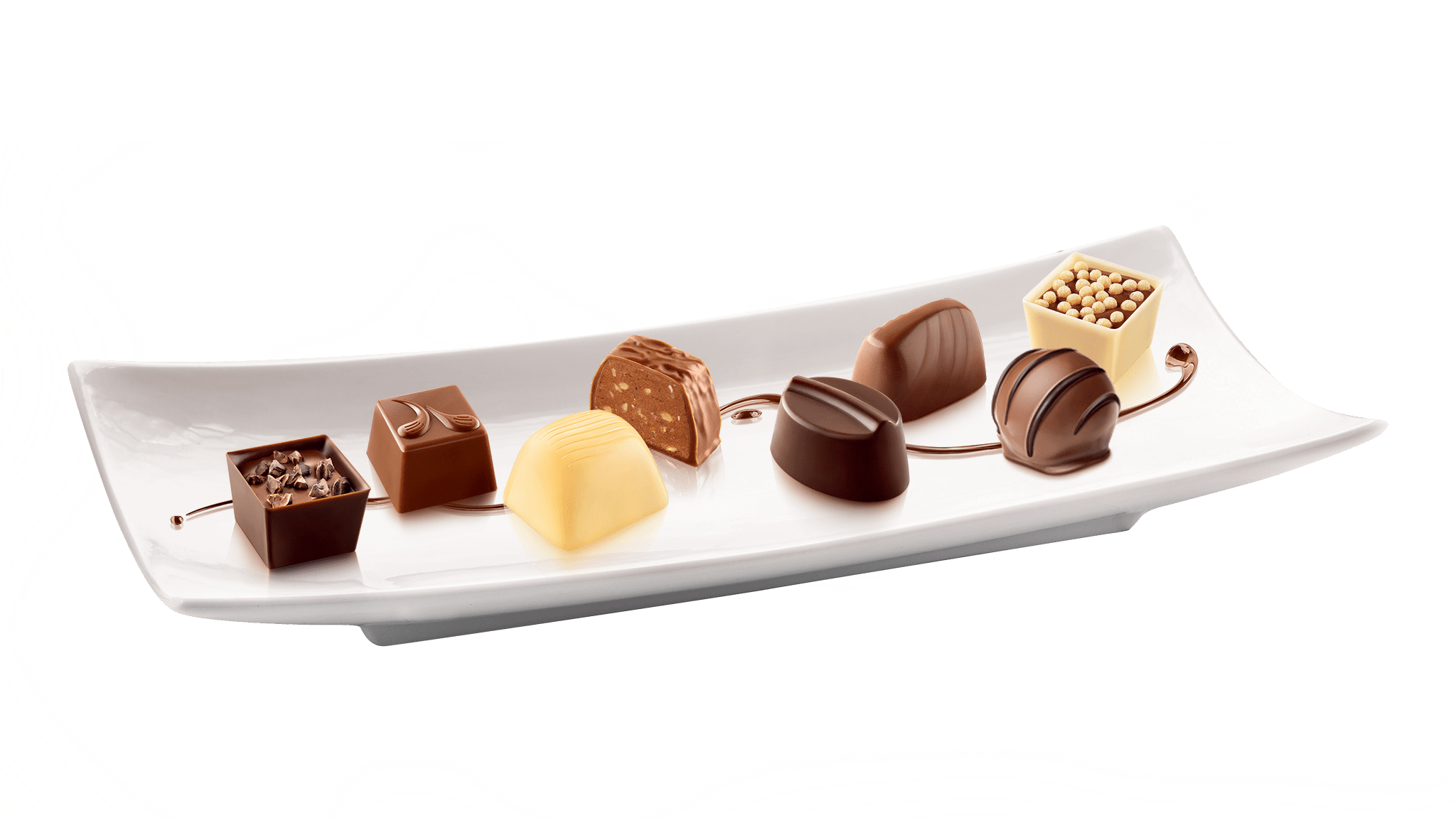 Chocolates on Plate